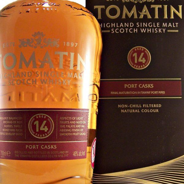 Tomatin 14 year old Port Cask Finish single malt whisky