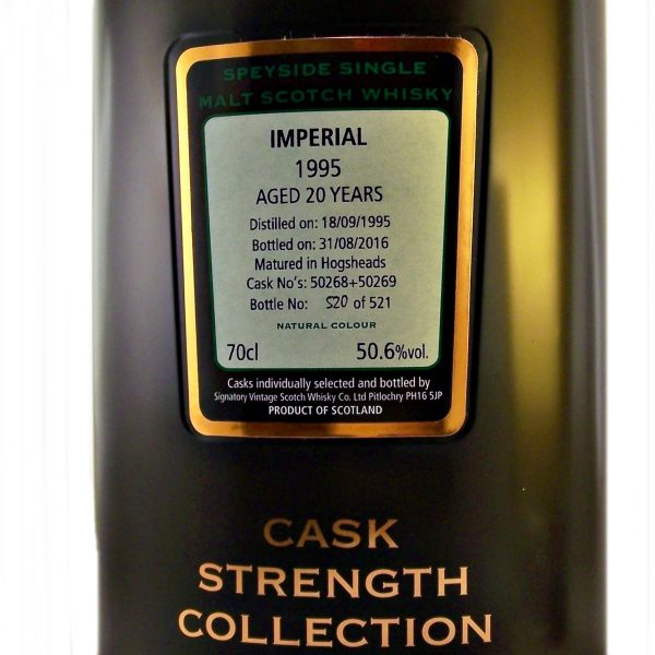 Imperial 1995 Vintage 20 year old Cask Strength