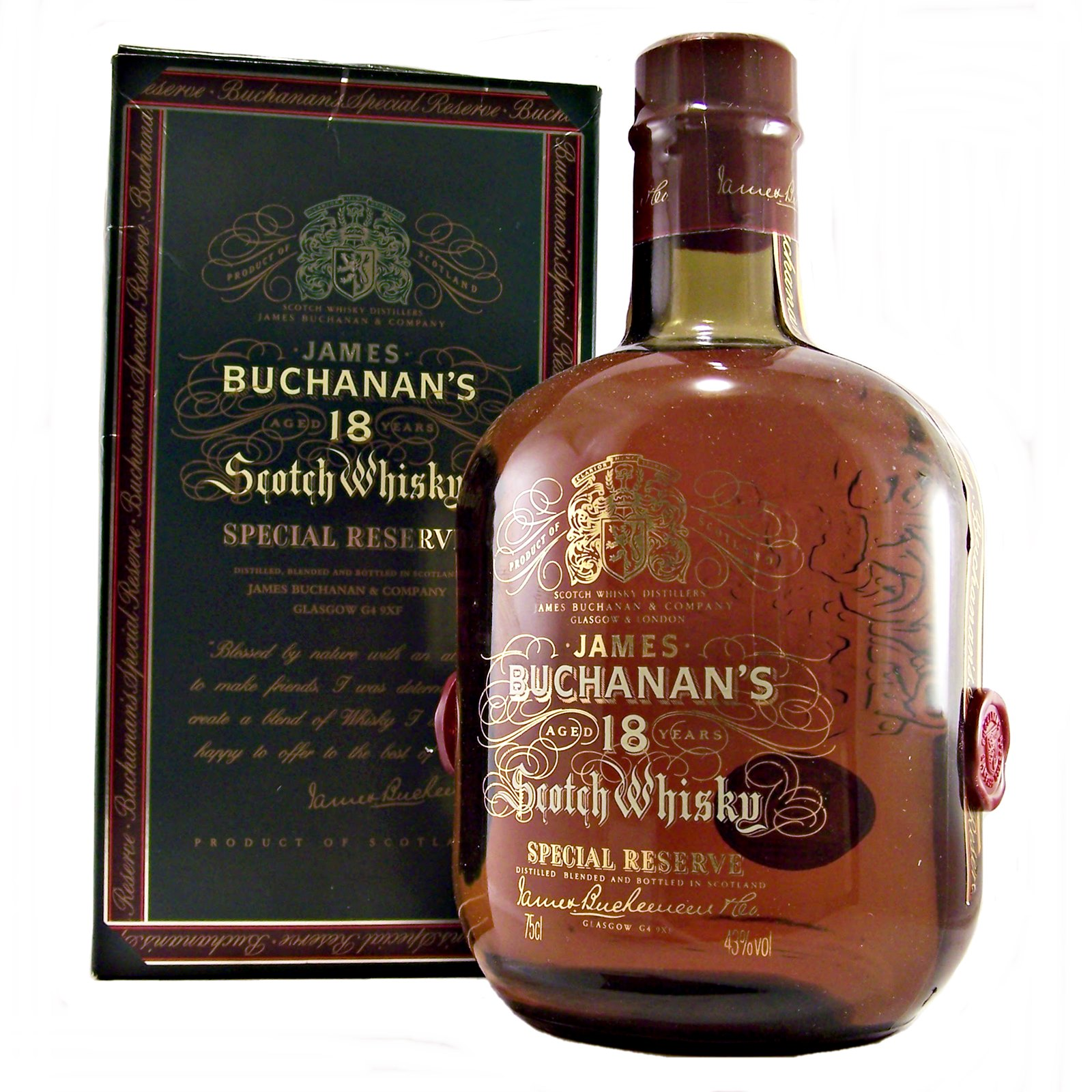 Buchanan Drink: Buchanan's 18 Year Old Scotch Whisky Special Reserve