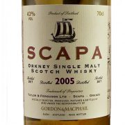 Scapa 2005 Single Malt Whisky bottled in 2017 by Gordon & MacPhail