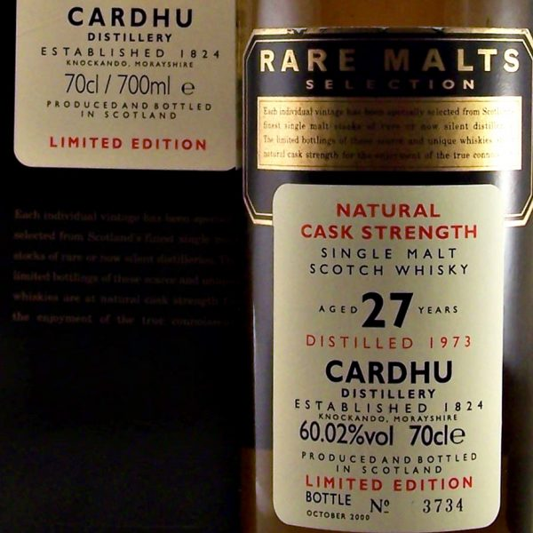 Cardhu 27 year old Rare Malts Selection Whisky