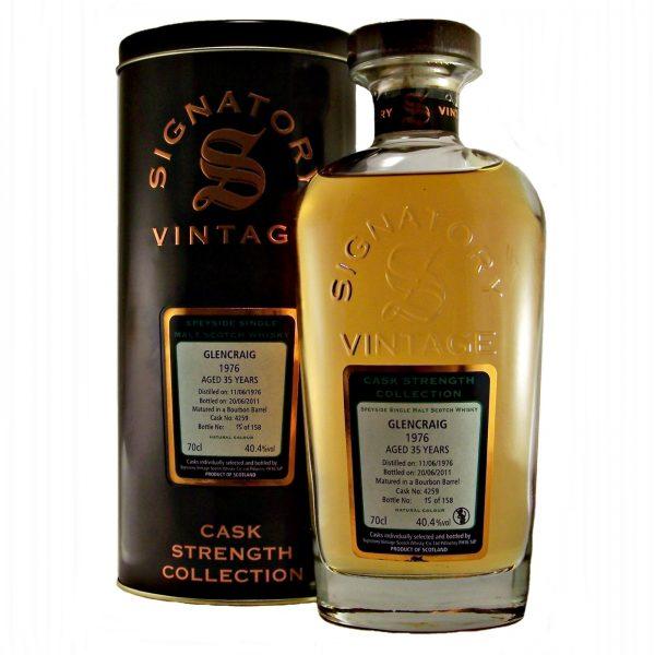 Glengraig 1976 Vintage 35 year old Single Malt Whisky