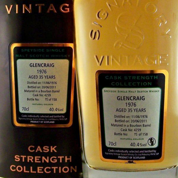 Glengraig 1976 Glenburgie 35 year old Single Malt Whisky
