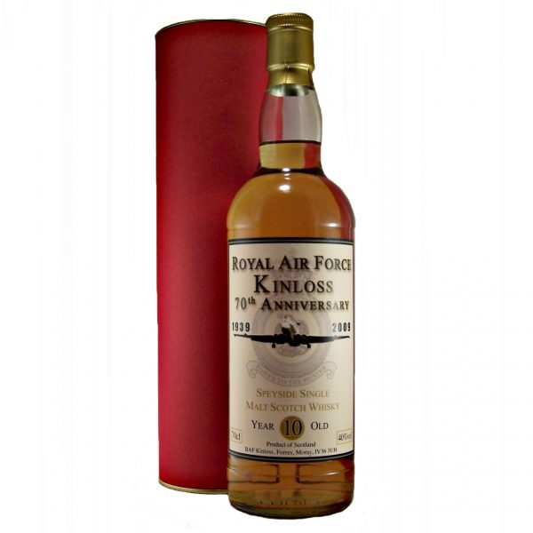 Royal Air Force Kinloss 70th Anniversary 10 year old Whisky