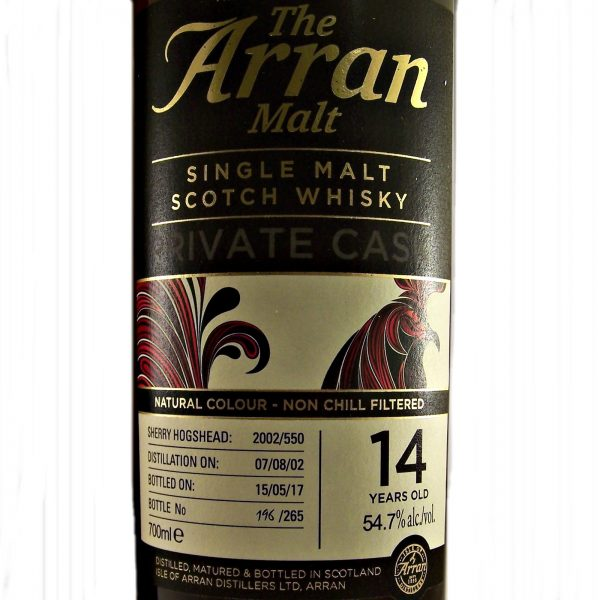 Arran Private Cask 14 year old Single Malt Scotch Whisky
