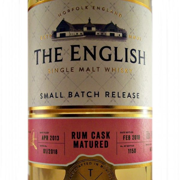 English Whisky Rum Cask Matured Single Malt