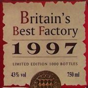 Old Parr 15 year old scotch Britain's Best Factory 1997