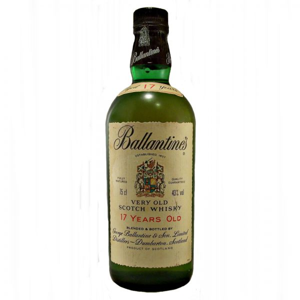 Ballantines 17 year old 1980s