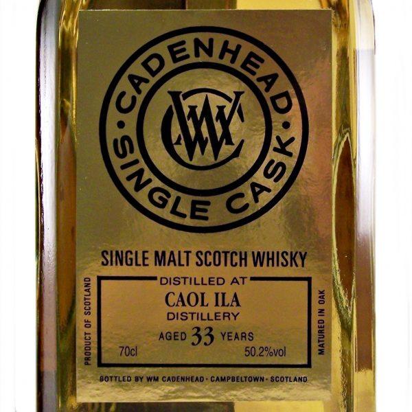 Caol Ila 33 year old Cadenhead's 175th Anniversary Whisky