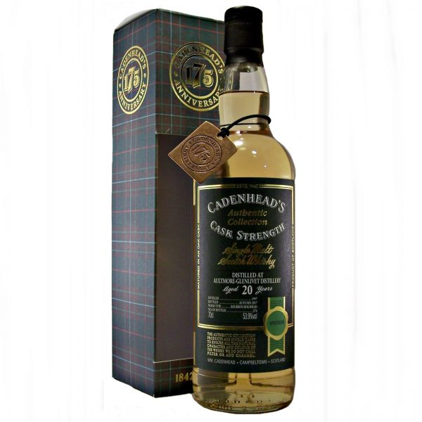 Aultmore-Glenlivet 20 year old Cadenhead's 175th Anniversary