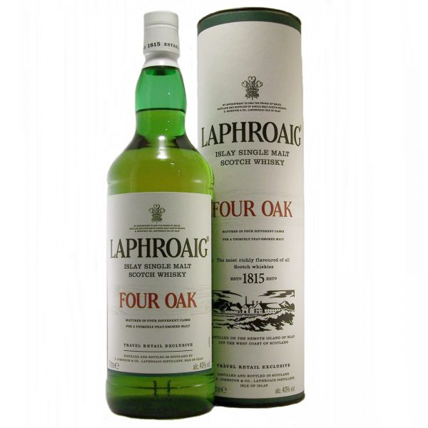 Laphroaig Four Oak Islay single malt scotch whisky