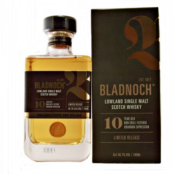 Bladnoch 10 year old Bourbon Limited release Expression