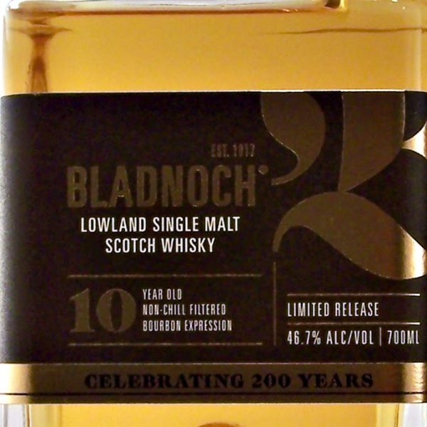 Bladnoch 10 year old Limited release single malt whisky
