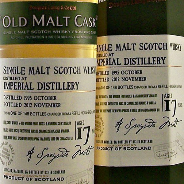 Imperial Closed Distillery Single Malt Whisky 17 year old