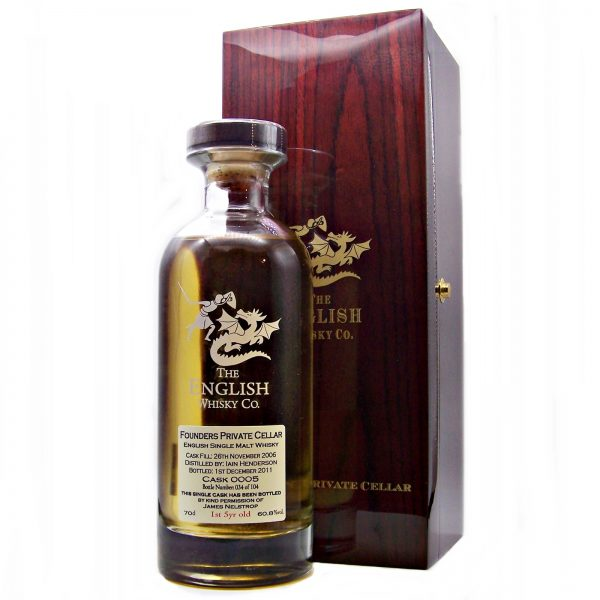 English Whisky Founders Private Cellar Cask 0005