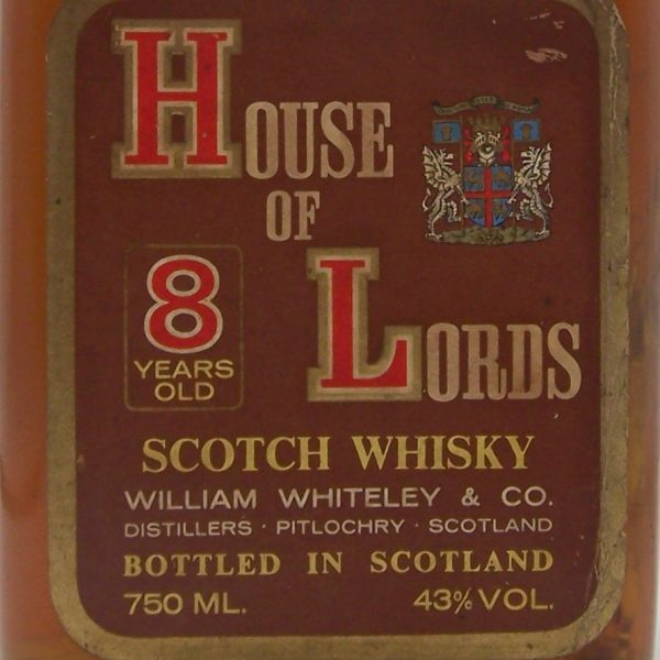 House of Lords 8 year old Scotch Whisky William Whiteley