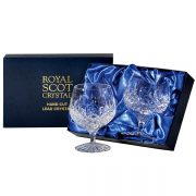 Hand Cut Crystal Brandy Glasses