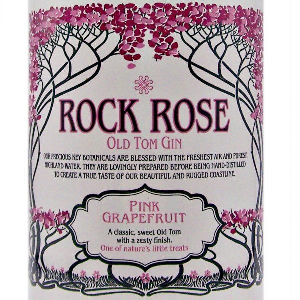 Rock Rose Pink Grapefruit Scottish Old Tom Gin