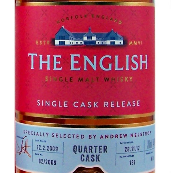 St George's English Quarter Cask Single Malt Whisky