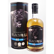 Black Bull 40 year old whisky. Batch No. 1 Deluxe Blended Scotch Whisky available to buy on line from specialist whisky shop whiskys.co.uk Stamford Bridge York