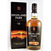 Highland Park old style 12 year old Single Malt Whisky round bottle in a square box buy online at specialist whisky shop whiskys.co.uk Stamford Bridge York