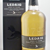 Ledaig 10 year old Single Malt Scotch Whisky from the Tobermory Distillery Isle of Mull. Available to buy online from specialist whisky shop whiskys.co.uk Stamford Bridge York