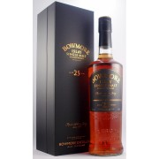 Bowmore 25 year old Discontinued Older style packaging (as shown) available to buy on line from specialist whisky shop whiskys.co.uk Stamford Bridge York