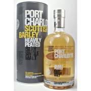 Port Charlotte Scottish Barley Heavily peated Islay Single Malt Whisky from the Bruichladdich Distillery buy online from whiskys.co.uk Stamford Bridge York