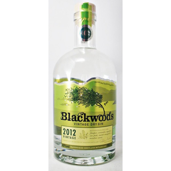 Blackwoods Dry Gin 40% Limited Edition 2012