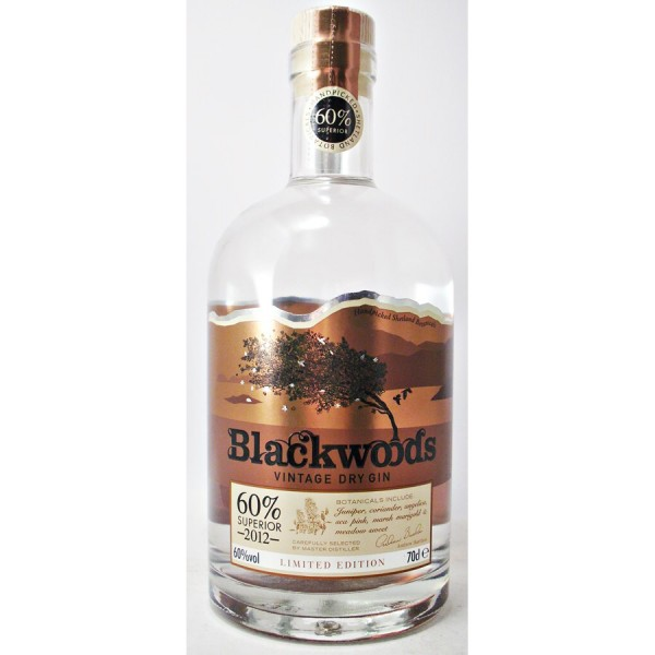 Blackwoods Dry Gin 60%  Limited Edition 2012