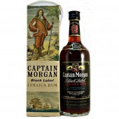 Captain Morgan Black Label Jamaica Rum 75 Proof 26 2/3fl.oz old imperial bottling pre 1970s buy from specialist whiskyshop whiskys.co.uk stamford bridge