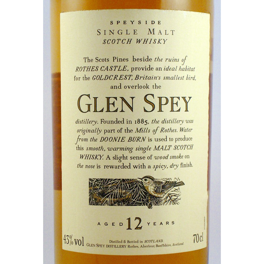 Glen Spey Malt Whisky Flora and Fauna Label