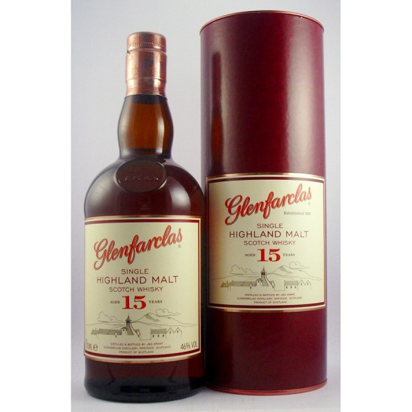 Glenfarclas Scotch Whisky 15 year old Single Malt Scotch Whisky