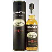 Tomatin 10 year old Single Malt Whisky old obsolete bottling available from specialist whisky shop whiskys.co.uk Stamford bridge York