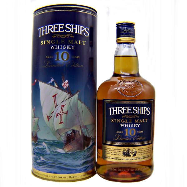 Three Ships 10 year old Single Malt South African Whisky