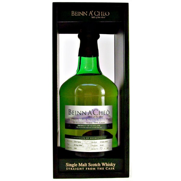 Glen-Spey-Beinn-A-Cheo malt whisky