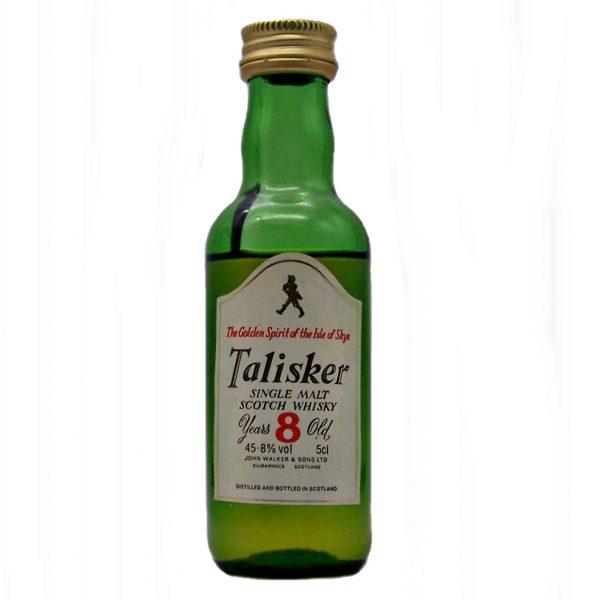 Talisker 8 year old Whisky Miniature Scotch Single Malt