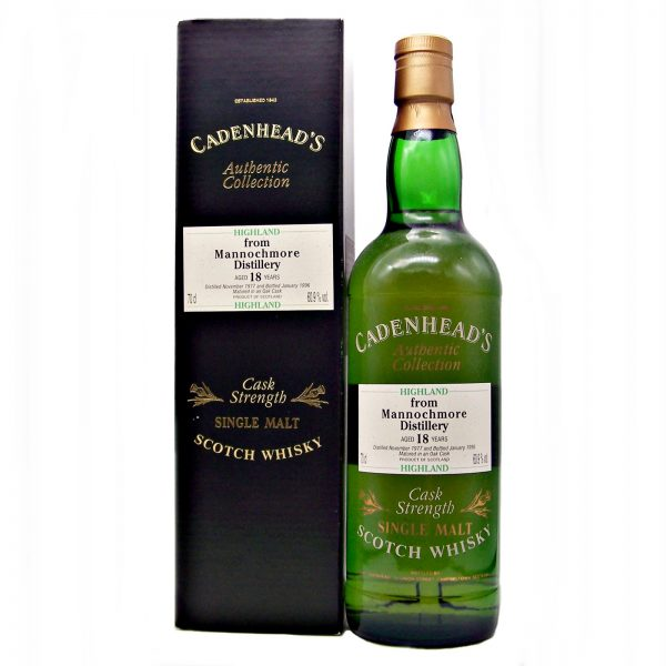 Mannochmore 18 year old 1977 Cadenhead's Authentic Collection