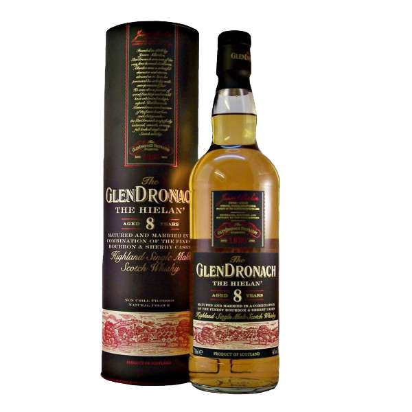 Glendronach 'The Hielan' 8 year old single malt whisky, available to buy from whiskys.co.uk