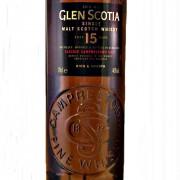 Glen Scotia 15 year old Malt Whisky label
