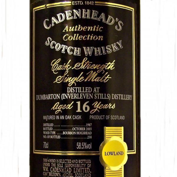 Dumbarton Inverleven Stills Single Malt Whisky