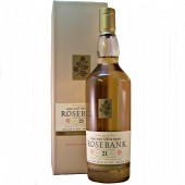 Rosebank 21 year old Single Malt Whisky from whiskys.co.uk