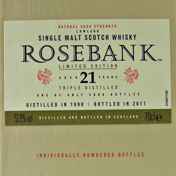 Rosebank 21 year old Single Malt Whisky