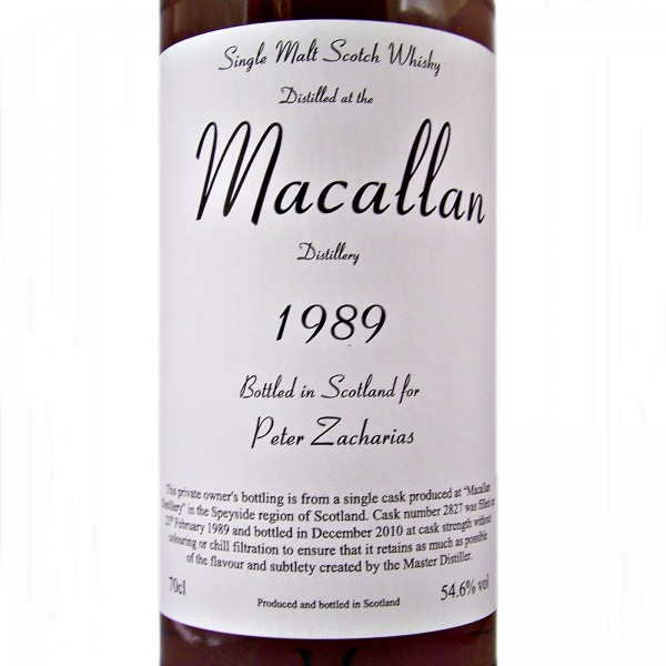 Macallan 1989 Single Malt Whisky