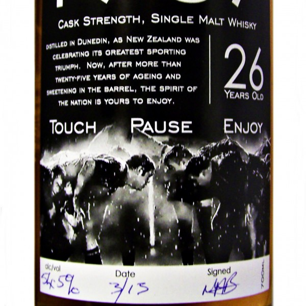 Touch Pause Enjoy New Zealand Whisky