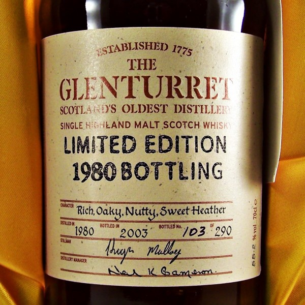 Glenturret Single Malt Whisky 1980