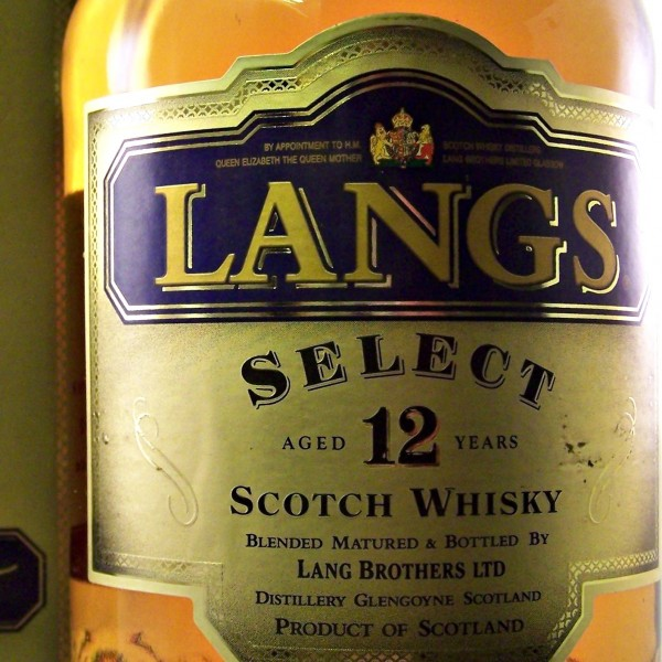 Langs Select 12 year old Scotch Whisky