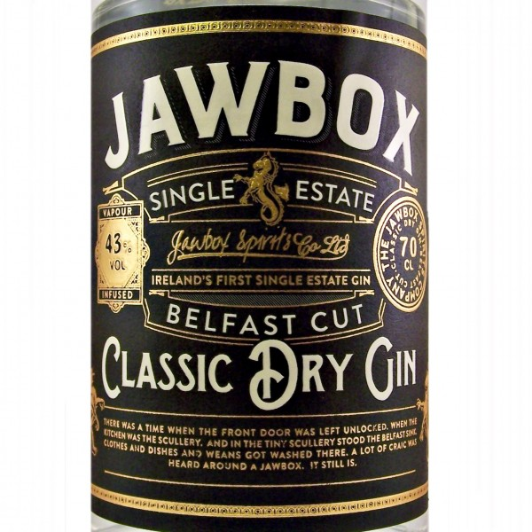 Jawbox Belfast Cut Single Estate Classic Dry Gin