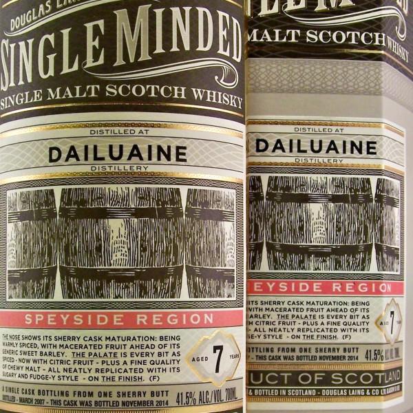 Dailuaine Single Minded Malt Whisky