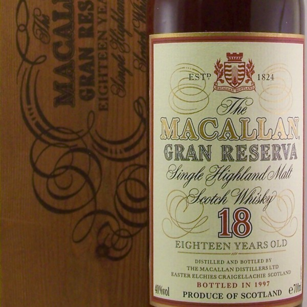 Macallan Gran Reserva 18 year old 1979 bottled 1997